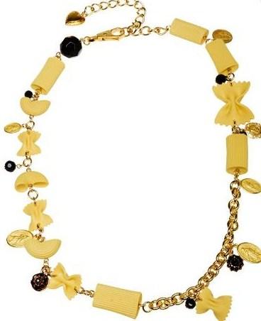 ожерелье из макарон Dolce & Gabbana