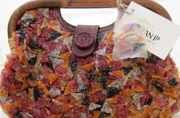 сумка из макарон