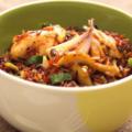 Красный рис с куриной грудкой