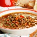 Суп из чечевицы и индюшачьих горлышек