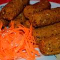 Кебаб из фасоли (запеченный в духовке)
