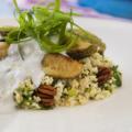 Салат из булгура с кабачком и йогуртом